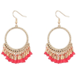Ericdress Circle Design Tassels Earrings