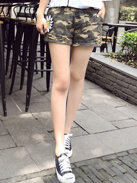 Ericdress Casual Camouflage Shorts