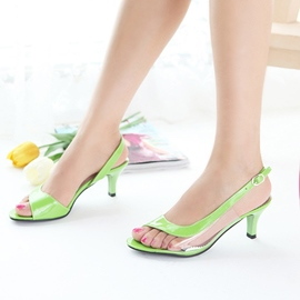 Ericdress Bright Transparent Patchwork Stiletto Sandals