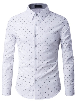 Ericdress Print Slim Long Sleeve Men's Shirt