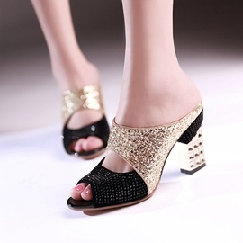 Ericdress Sequins&rhinestone Patchwork Mules Shoes