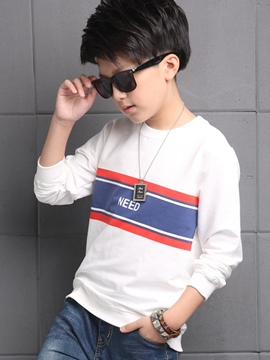 Ericdress Simple Colored Printing Boys Tops