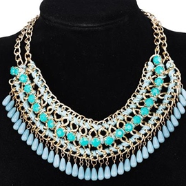 Ericdress Resin Tassels Alloy Necklace