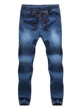Ericdress Lace-Up Denim Casual men's Pencil Jeans