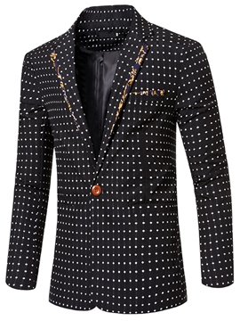 Ericdress Polka Dots Print Vogue Slim Men's Blazer