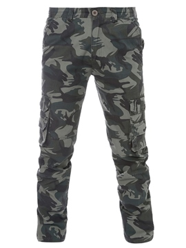Ericdress Camouflage Big Pocket Straight Casual Men's Pants