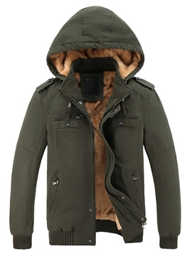 Ericdress Thicken Flocking Vogue Hood Men's Jacket