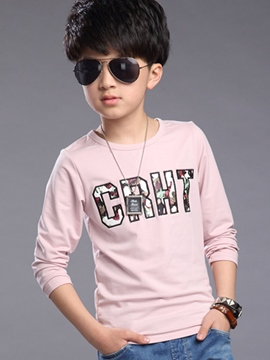 Ericdress Letter Printed Long Sleeve Boys Tops