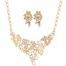 Ericdress Leaves Design Pearl Jewelry Set