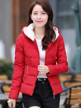 Ericdress Color Block Thick Cotton Coat