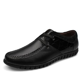 Ericdress Cozy Patent Leather Lace up Men's Oxfords