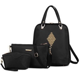 Ericdress Rivets Decorated Handbags(3 Bags)