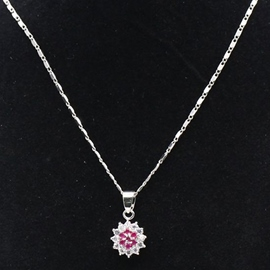 Ericdress Round Zircon Pendant Necklace