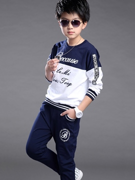 Ericdress Letter Print Boys Outfit