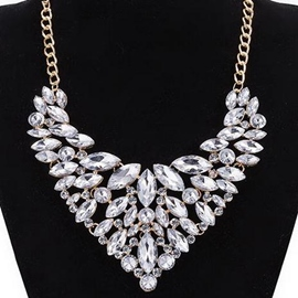 Ericdress Bright Crystal Glass Pendant Necklace