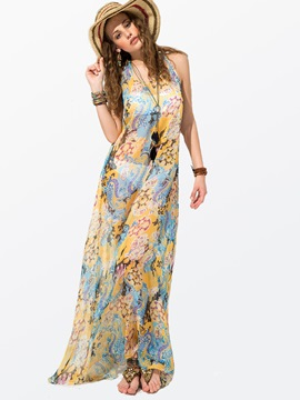 Ericdress Bohemian Sleeveless Maxi Dress