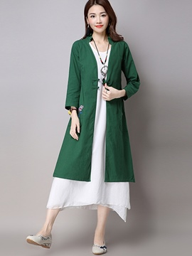 Ericdress Solid Color Slim Ethnic Sun Protective Clothing
