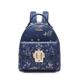 Ericdress Preppy Graffiti Secret Garden Print Backpack