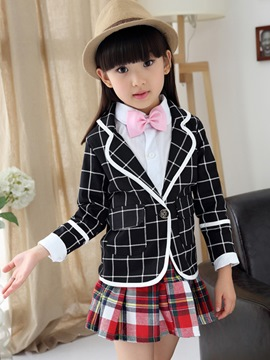 Ericdress Plaid Preppy Girls Outfit