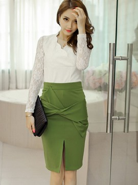 Ericdress Sweet Split Skirt Suit