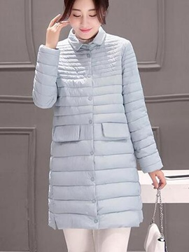 Ericdress Straight Single-Breasted Coat