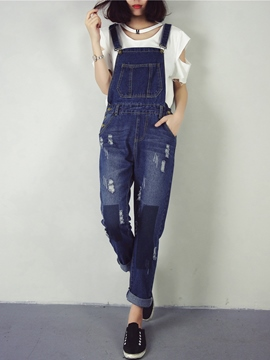 Ericdress Unique Worn Suspender Pants