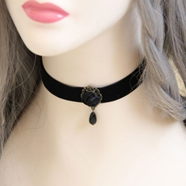 Ericdress Black Rope Choker Necklace