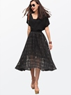 Ericdress Solid Color Expansion Little Black Dress