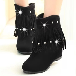 Ericdress Lovely Rhinestone&tassels Ankle Boots