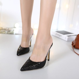 Ericdress Glittering Sequins Point Toe Mules Shoes