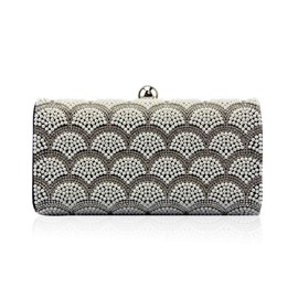 Ericdress Upscale Pearl Embroidery Evening Clutch