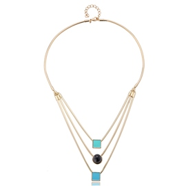 Ericdress Three Layers Gold Plated Necklace