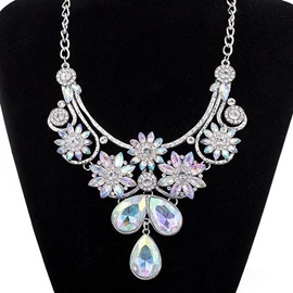 Ericdress Colorful Crystal Glass Pendant Necklace