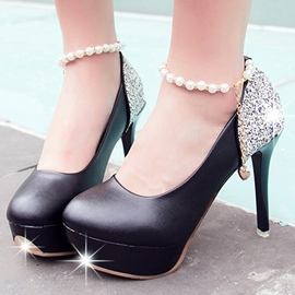 Ericdress Sequins Patchwork Round Toe Platform Prom Shoes