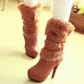 Ericdress Fashion Furry Ultra-High Boots