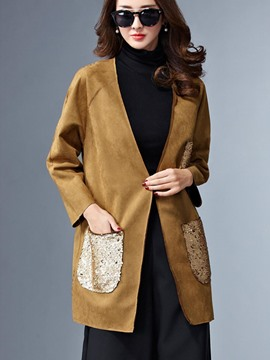 Ericdress Color Block Sequins Wrapped Outerwear