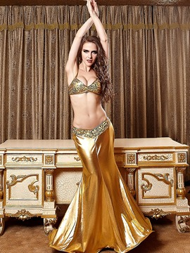 Ericdress Golden Mermaid Cosplay Sexy Halloween Costume