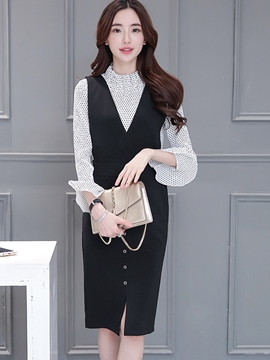 Ericdress Elegant Bodycon Dress Suit