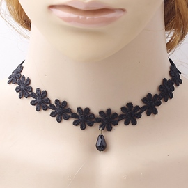 Ericdress Black Lace Retro Necklace