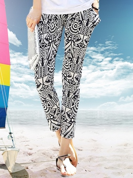 Ericdress Simple Print Harem Pants