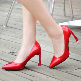 Ericdress Unique Patent Leather Point Toe Pumps