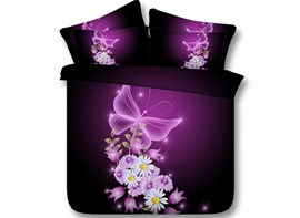 Ericdress Starlight Butterfly Print 3D Bedding Sets