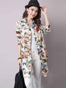Ericdress Floral Printed Casual Blouse