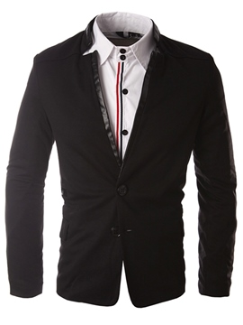 Ericdress Unique Patchwork Casual Slim Men's Jacket