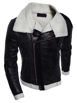 Ericdress Thicken PU Vogue Slim Men's Jacket
