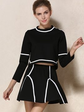 Ericdress Unique Stripe Two-Piece Suit