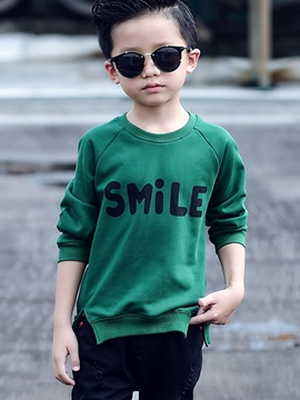 Ericdress Split Letter Printed Plain Boy's Top