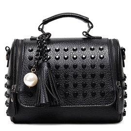 Ericdress Full Rivets Decorated Handbag