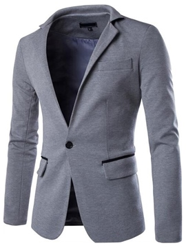 Ericdress Casual One Button Men's Blazer