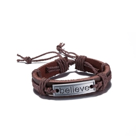 Ericdress Adjustable Brown Leather Retro Bracelet